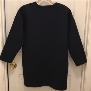 J. Crew Jackets & Coats - J. Crew collection navy wool coat sweater XS